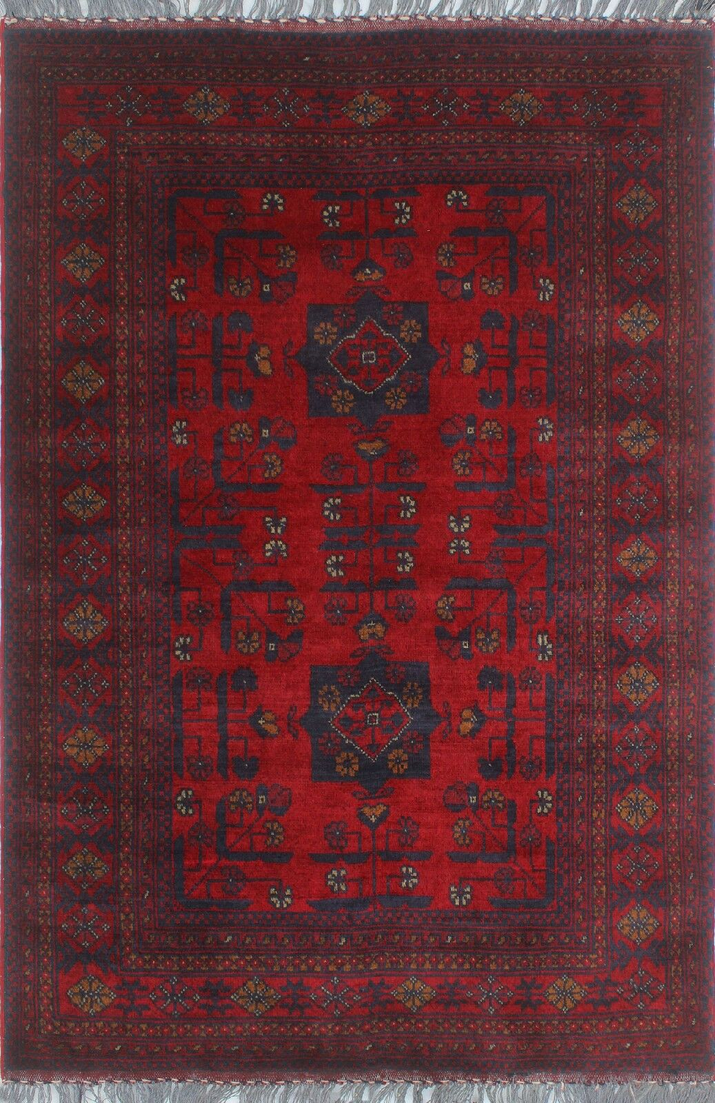 One-of-a-Kind Millar Bolanile Hand-Knotted Wool Red Are Rug