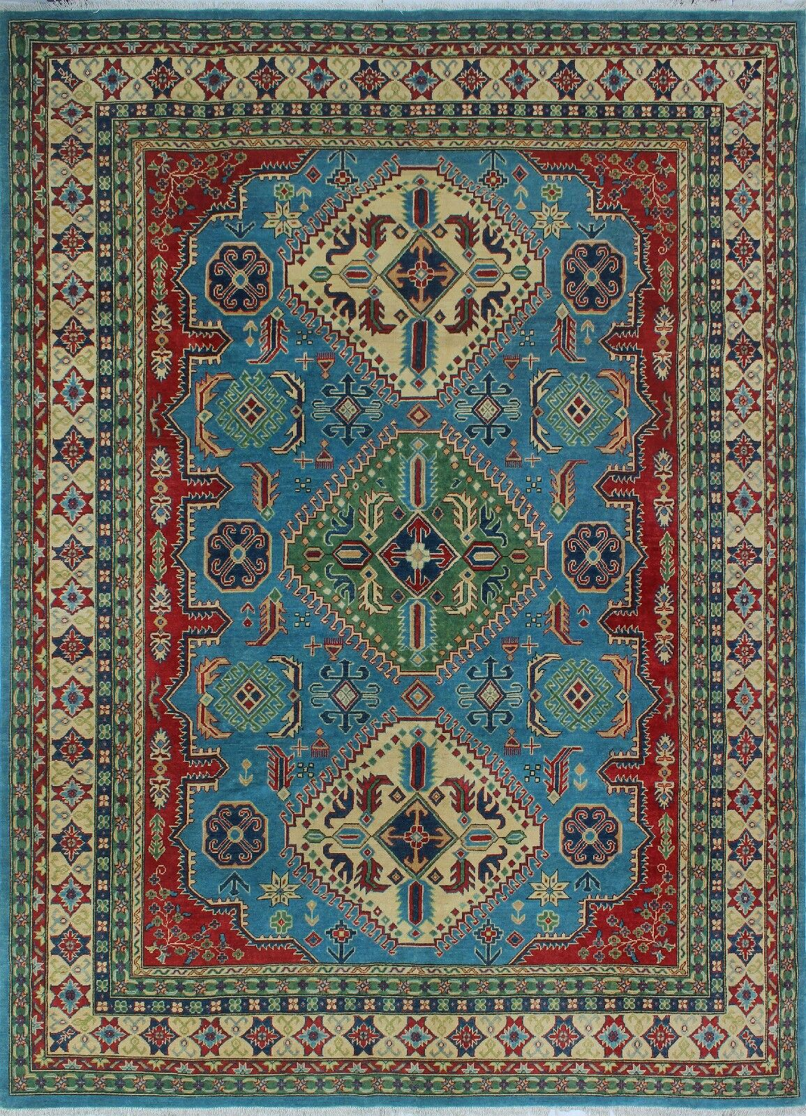 One-of-a-Kind Wendland Louis Lt. Hand-Knotted Blue Area Rug