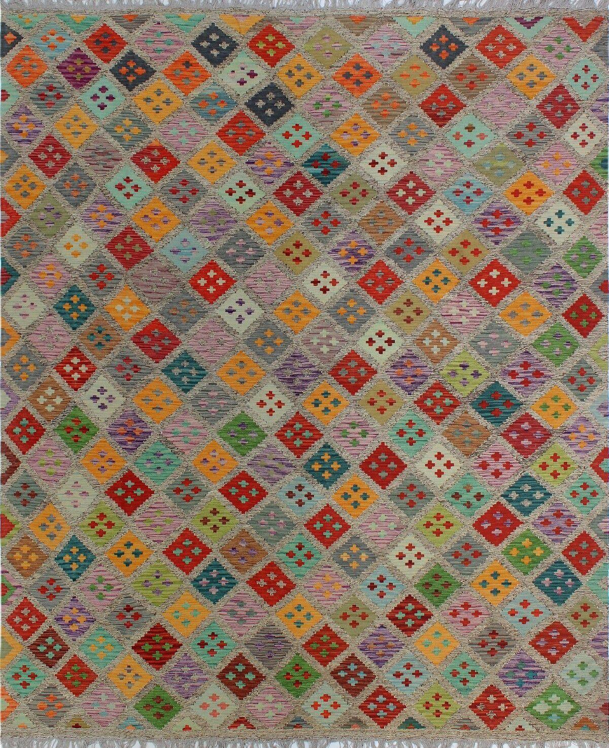 One-of-a-Kind Renita Kilim Hand-woven Wool Gray/Brown Area Rug