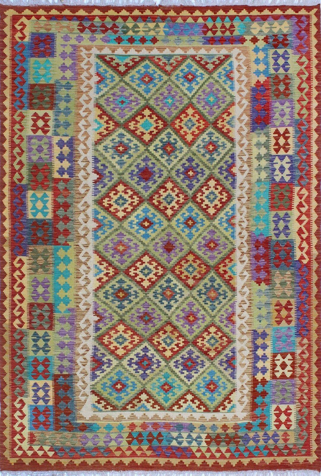One-of-a-Kind Renita Kilim Hand-woven Wool Blue/Green Area Rug