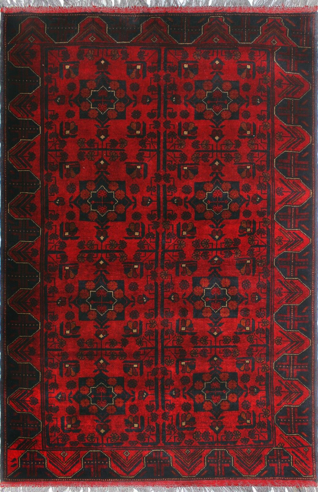 One-of-a-Kind Millar Saada Hand-Knotted Wool Red Are Rug