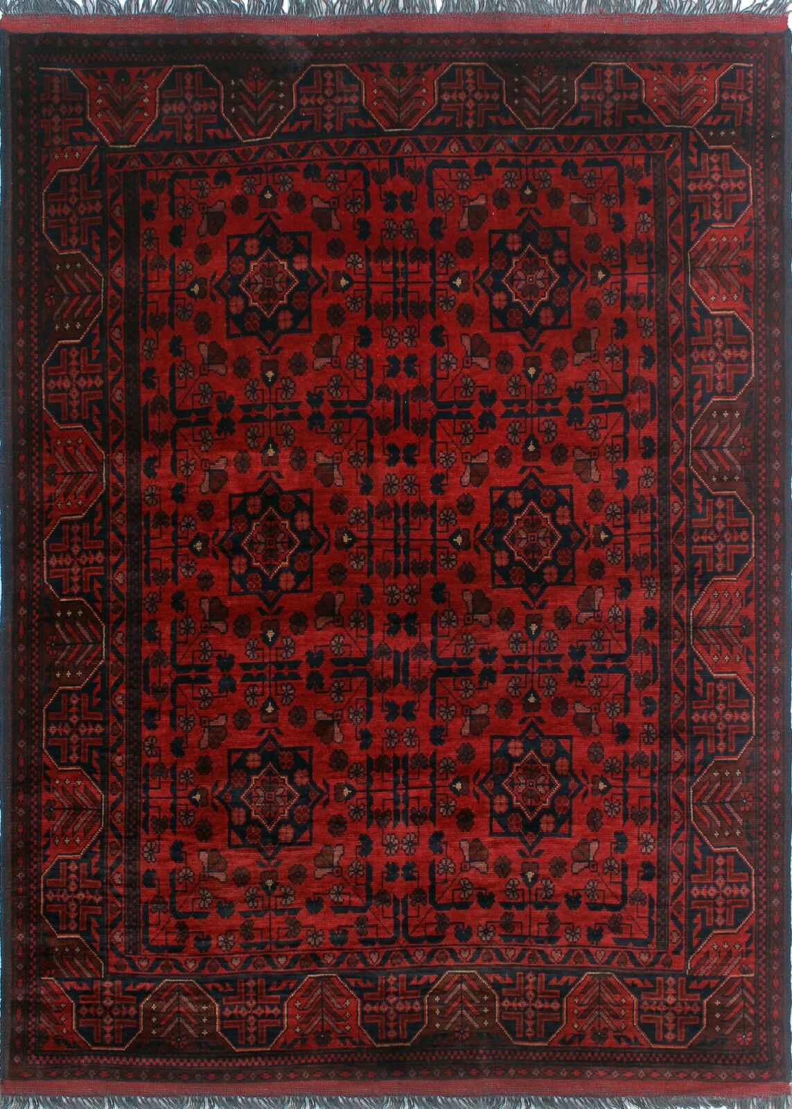 One-of-a-Kind Millar Apara Hand-Knotted Wool Red Are Rug