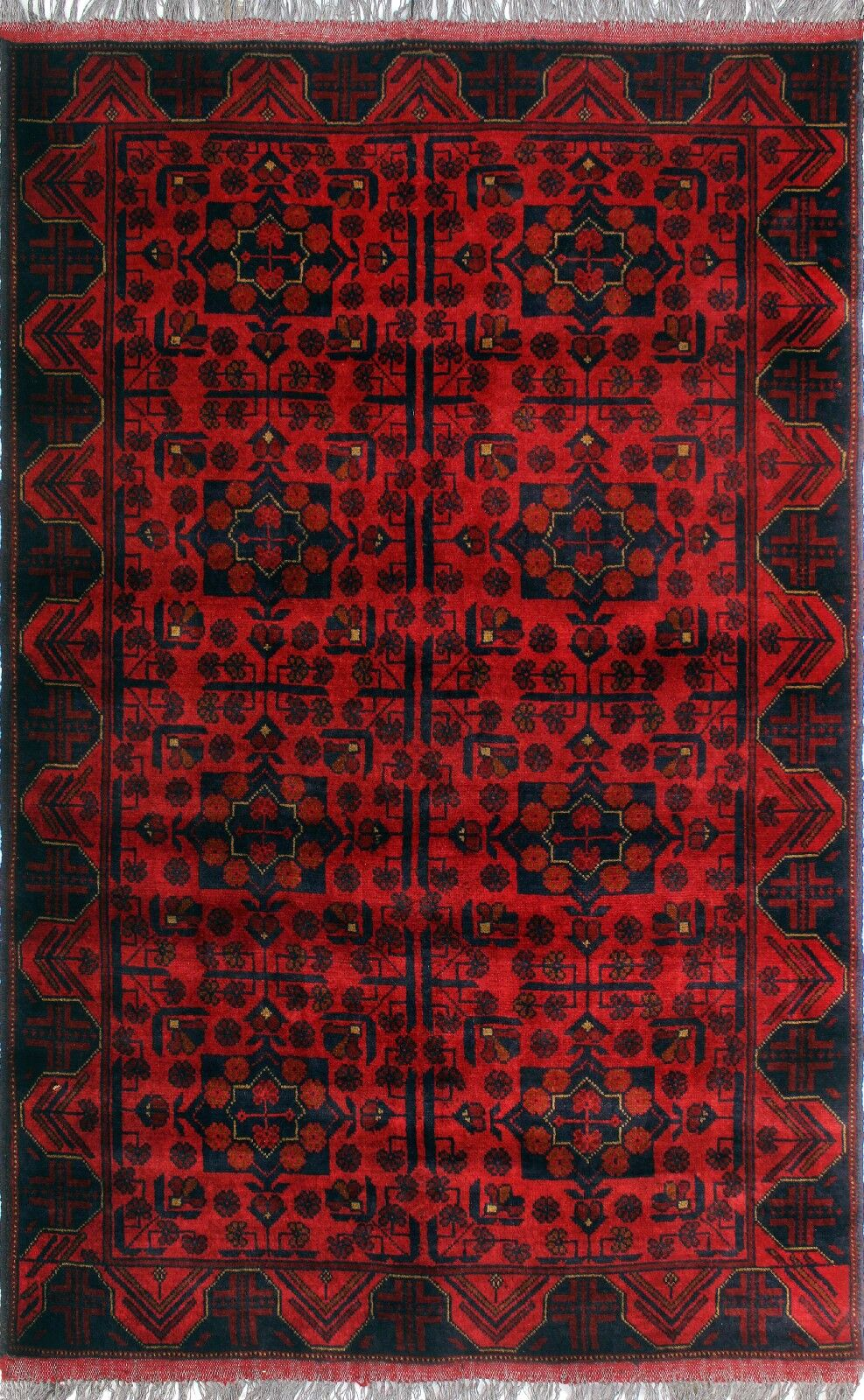 One-of-a-Kind Millar Kereenyaga Hand-Knotted Wool Red Are Rug