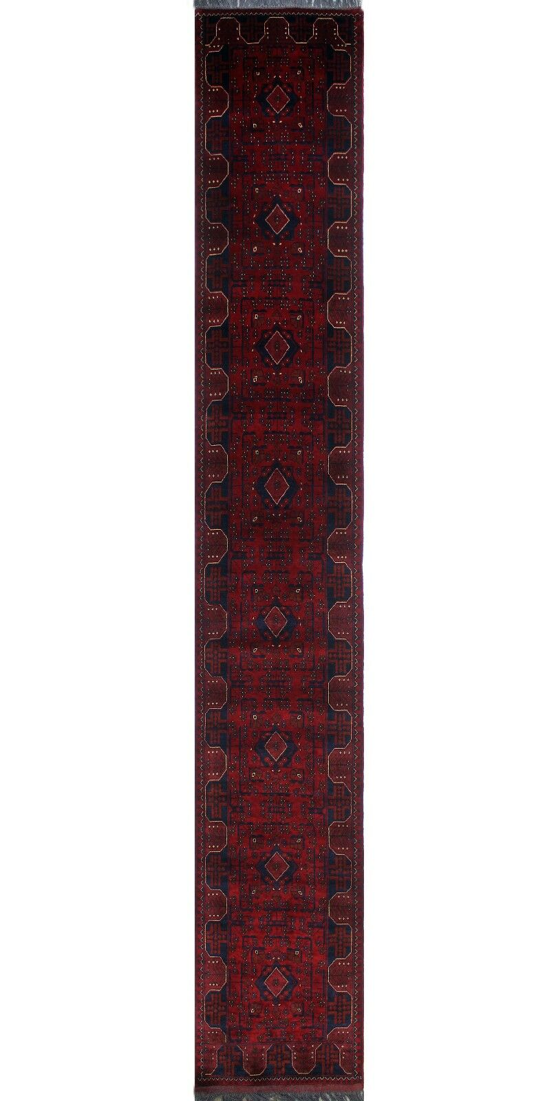 One-of-a-Kind Millar Enyonyam Hand-Knotted Wool Red Are Rug