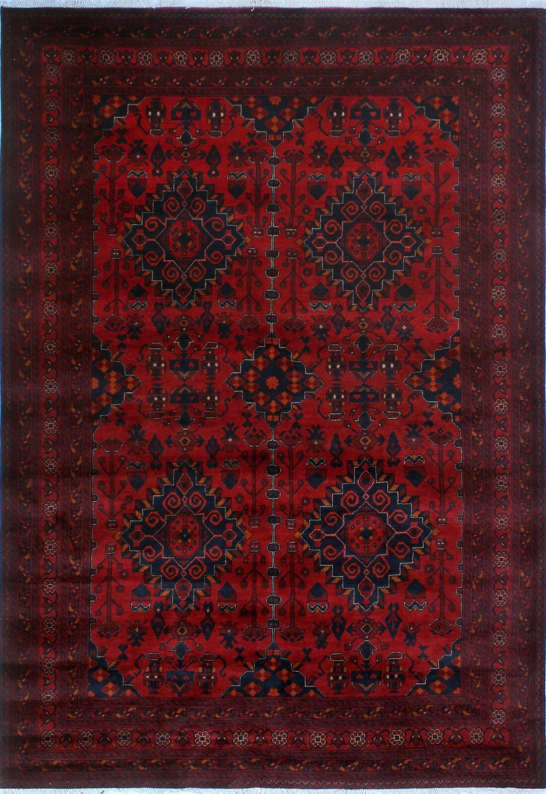 One-of-a-Kind Millar Oseye Hand-knotted Wool Red Area Rug