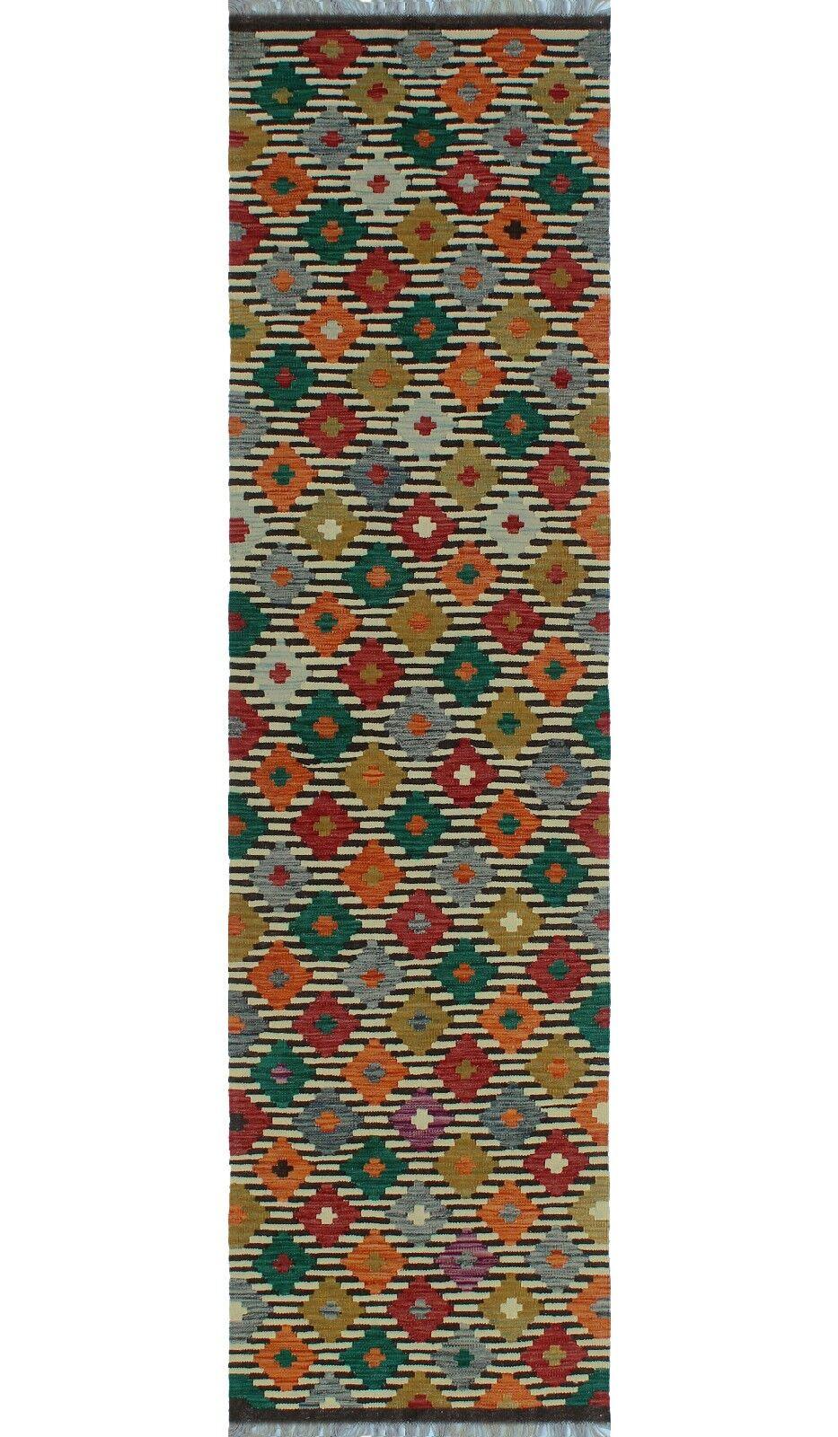 One-of-a-Kind Renita Kilim Hand-woven Wool Ivory/Black Area Rug