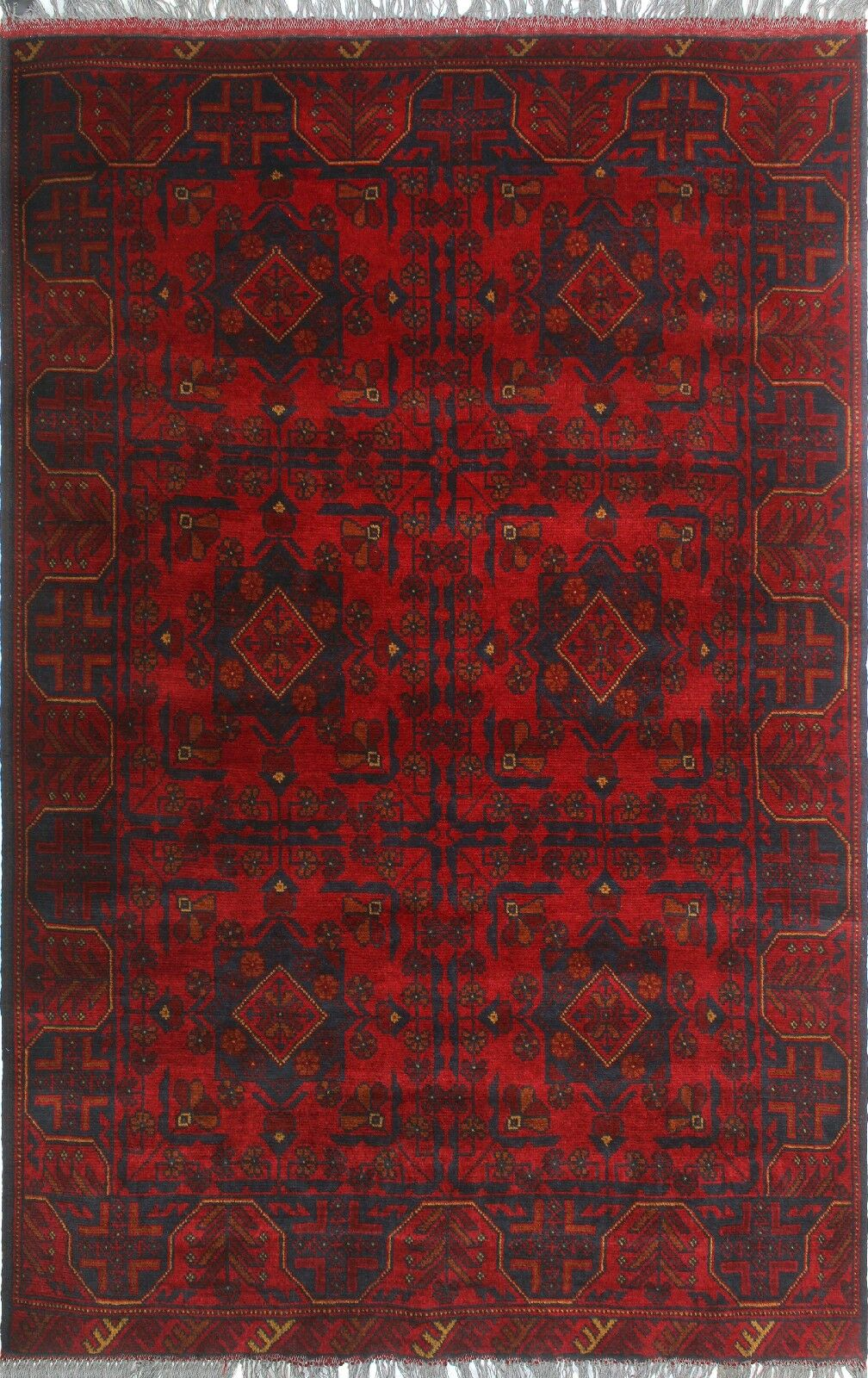 One-of-a-Kind Millar Veronica Hand-knotted Wool Red Area Rug