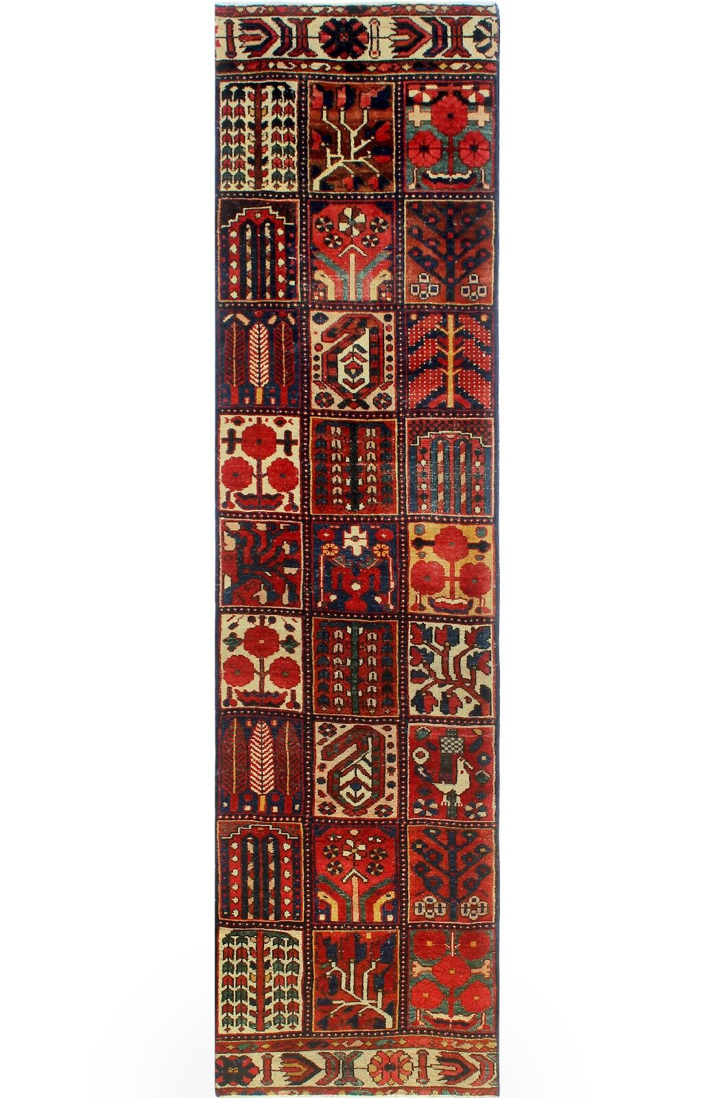 One-of-a-Kind Millay Bukhtiari Beeta Hand-Knotted Wool Red Area Rug