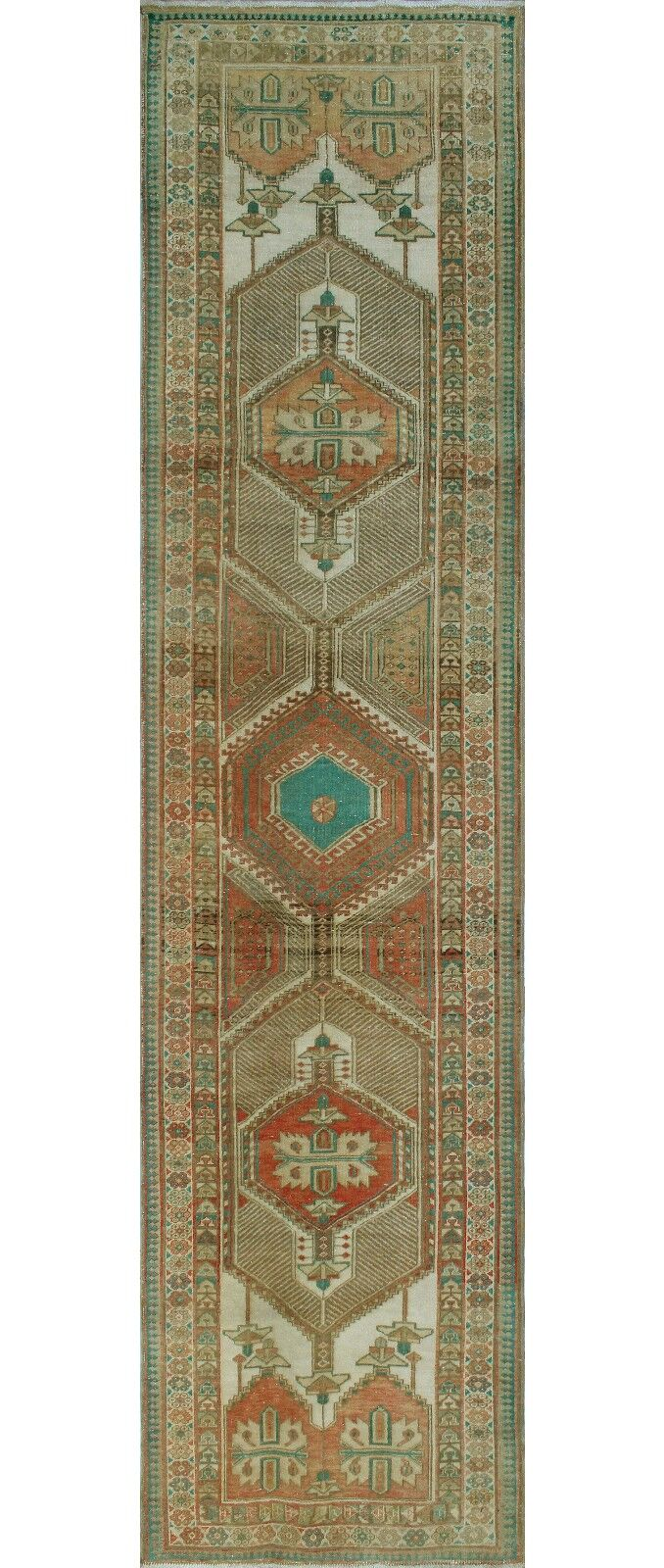 One-of-a-Kind Millay Sherazi Baharak Hand-Knotted Wool Ivory Area Rug