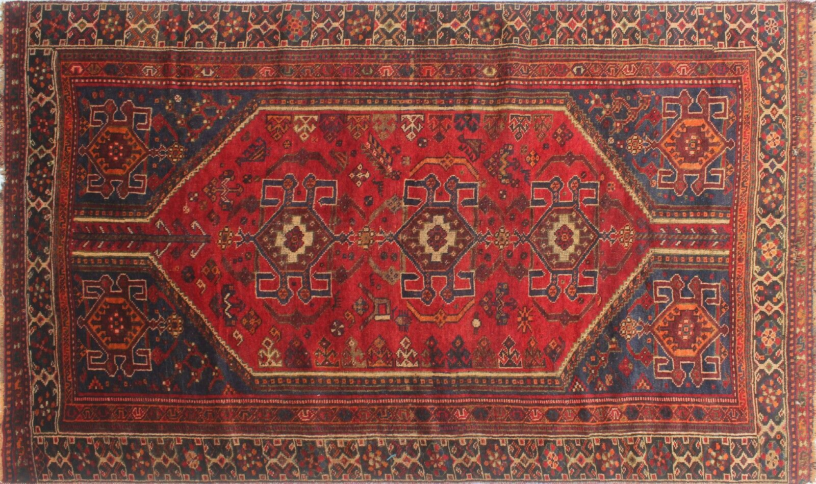 One-of-a-Kind Brook Semi Antique Hand-Knotted Wool Red Area Rug