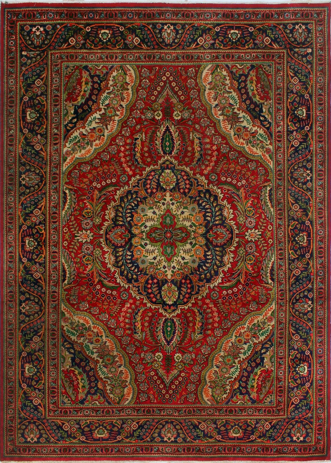 One-of-a-Kind Millikan Distressed Elizabeth Hand-Knotted Wool Red Area Rug