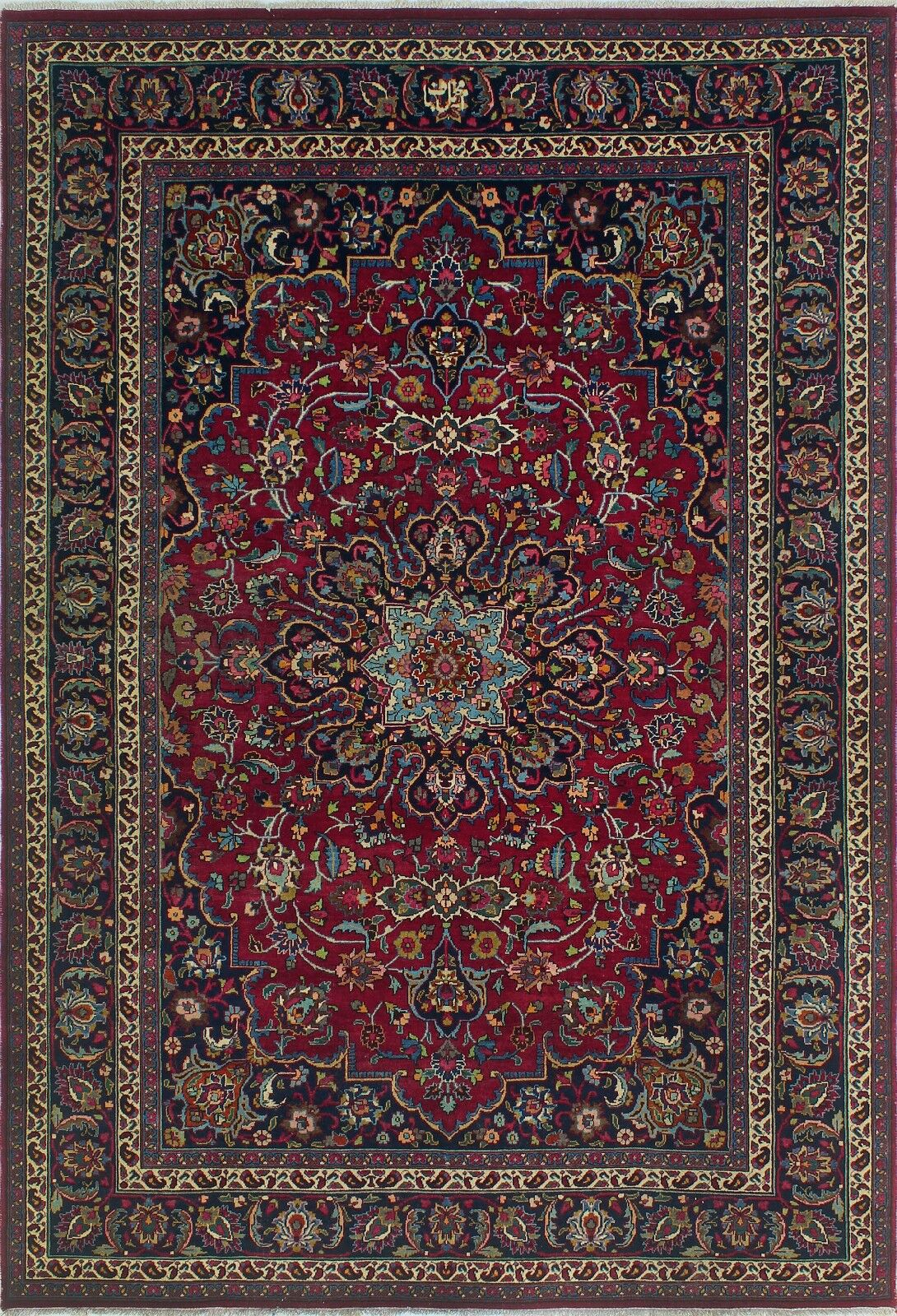 One-of-a-Kind Millikan Distressed Abigail Hand-Knotted Wool Red Area Rug