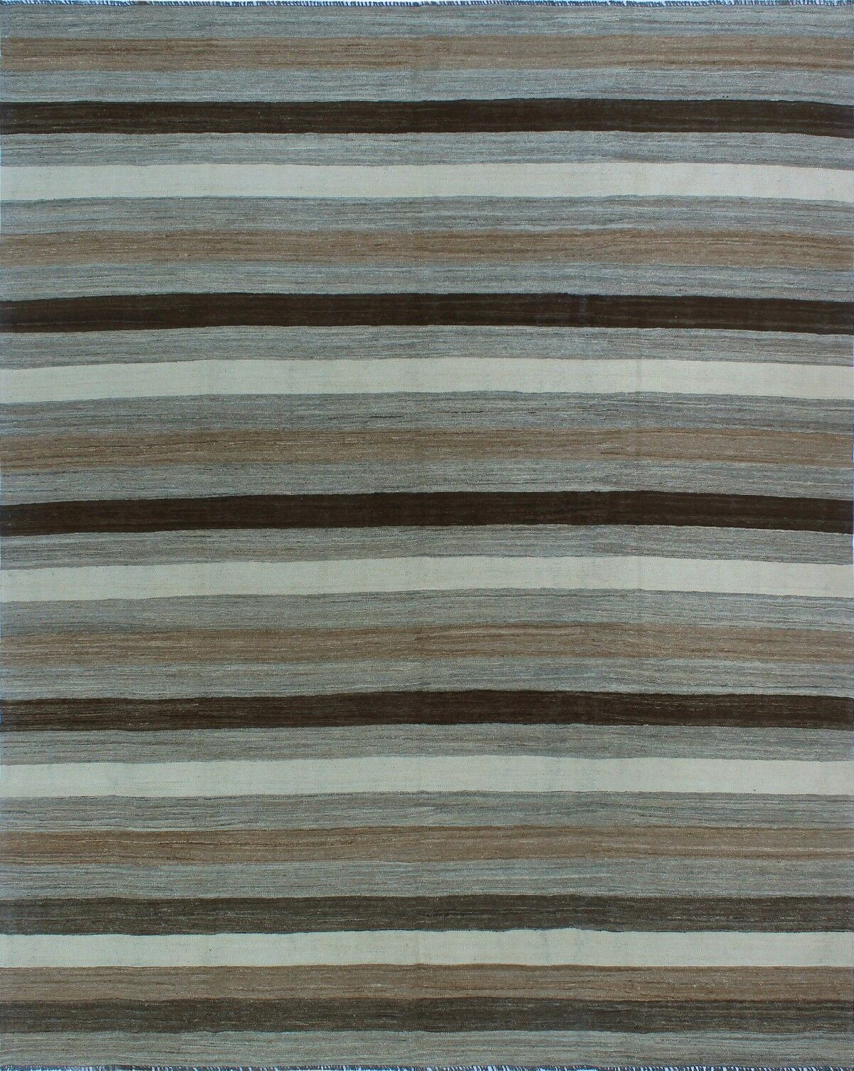 One-of-a-Kind Deb Kilim Hand-Woven Brown/Gray Are Rug