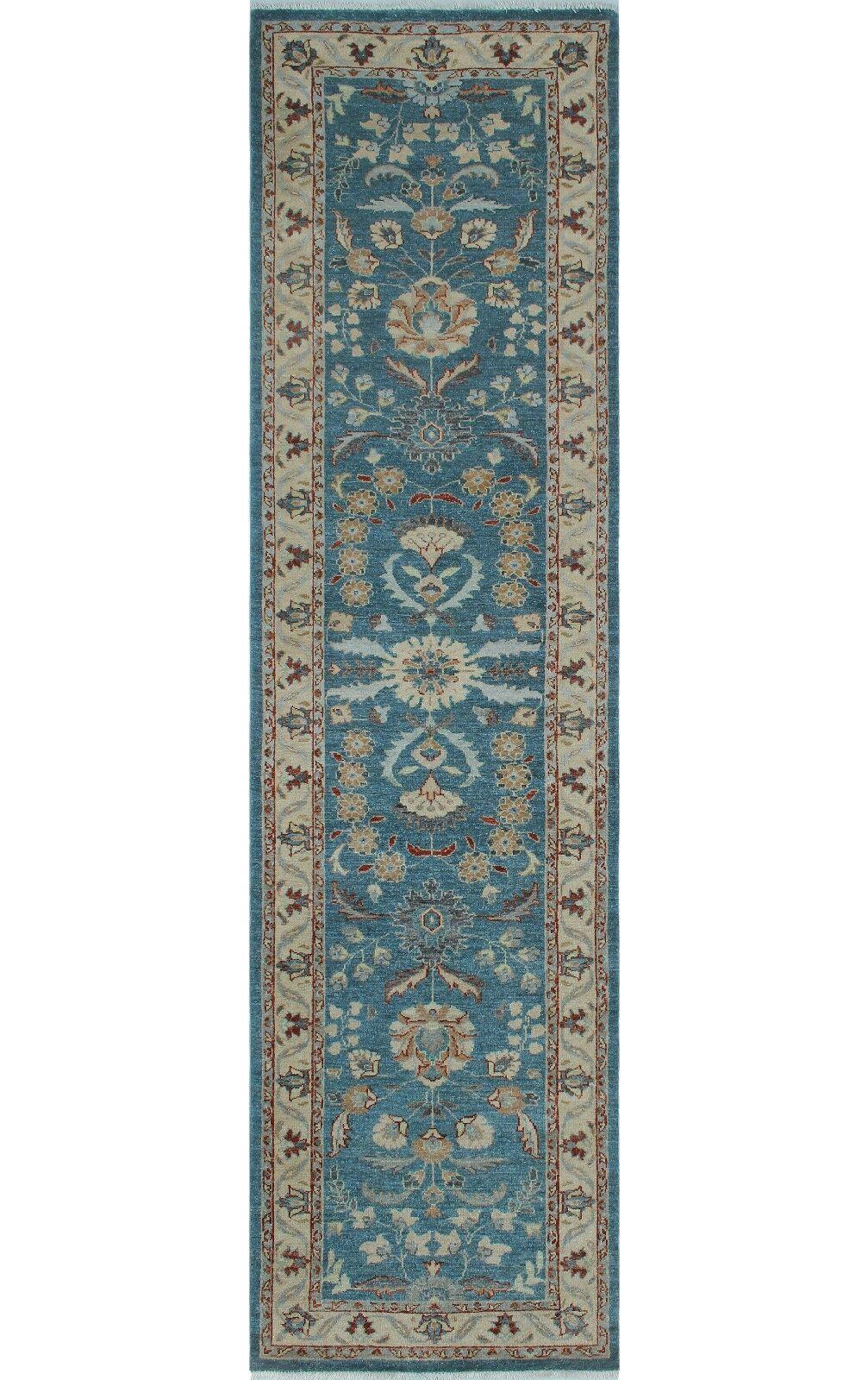 One-of-a-Kind Suzann Fine Chobi Hand-Knotted Blue Area Rug