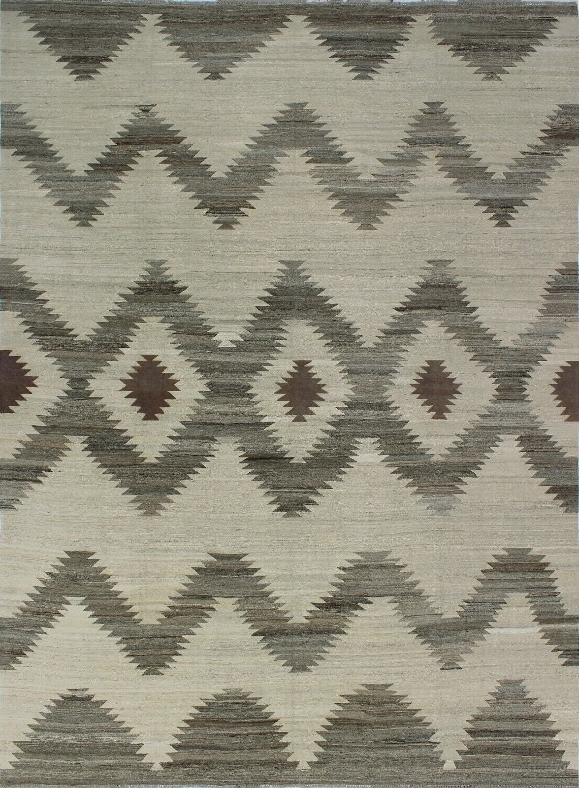 One-of-a-Kind Deb Kilim Hand-Woven Beige Are Rug
