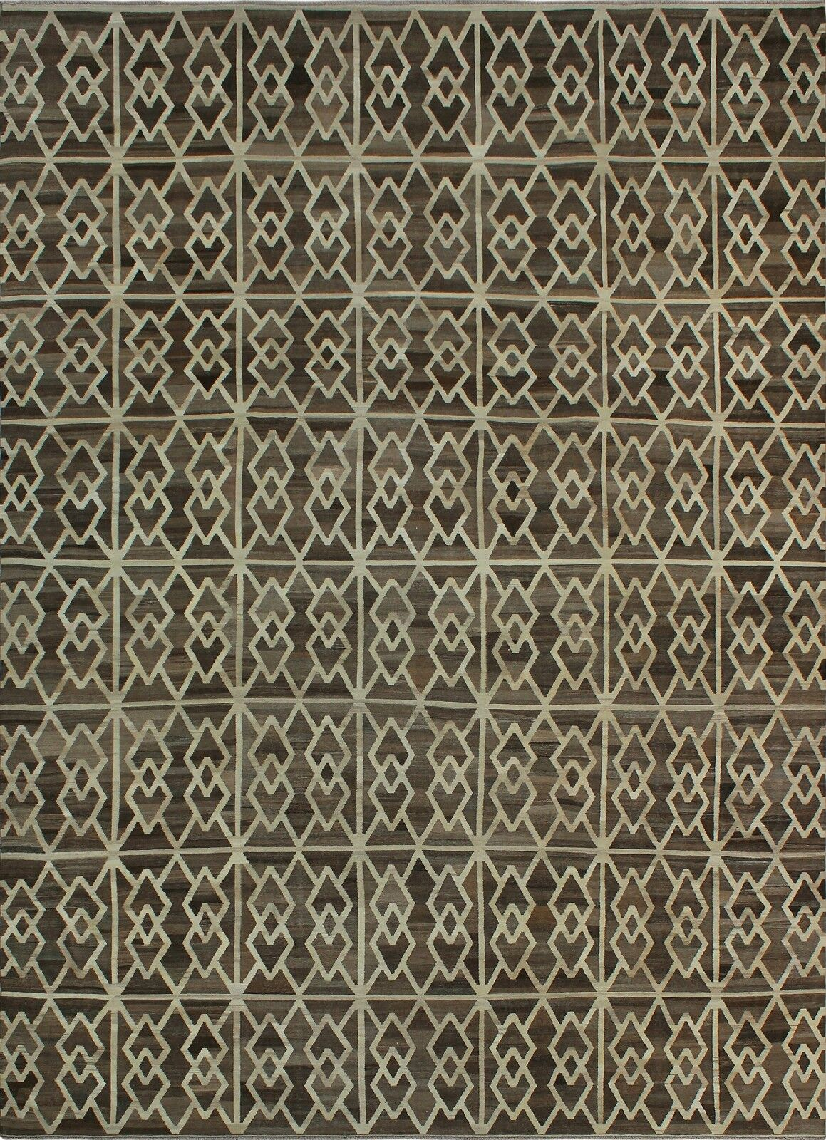One-of-a-Kind Deb Kilim Hand-Woven Gray/Beige Are Rug