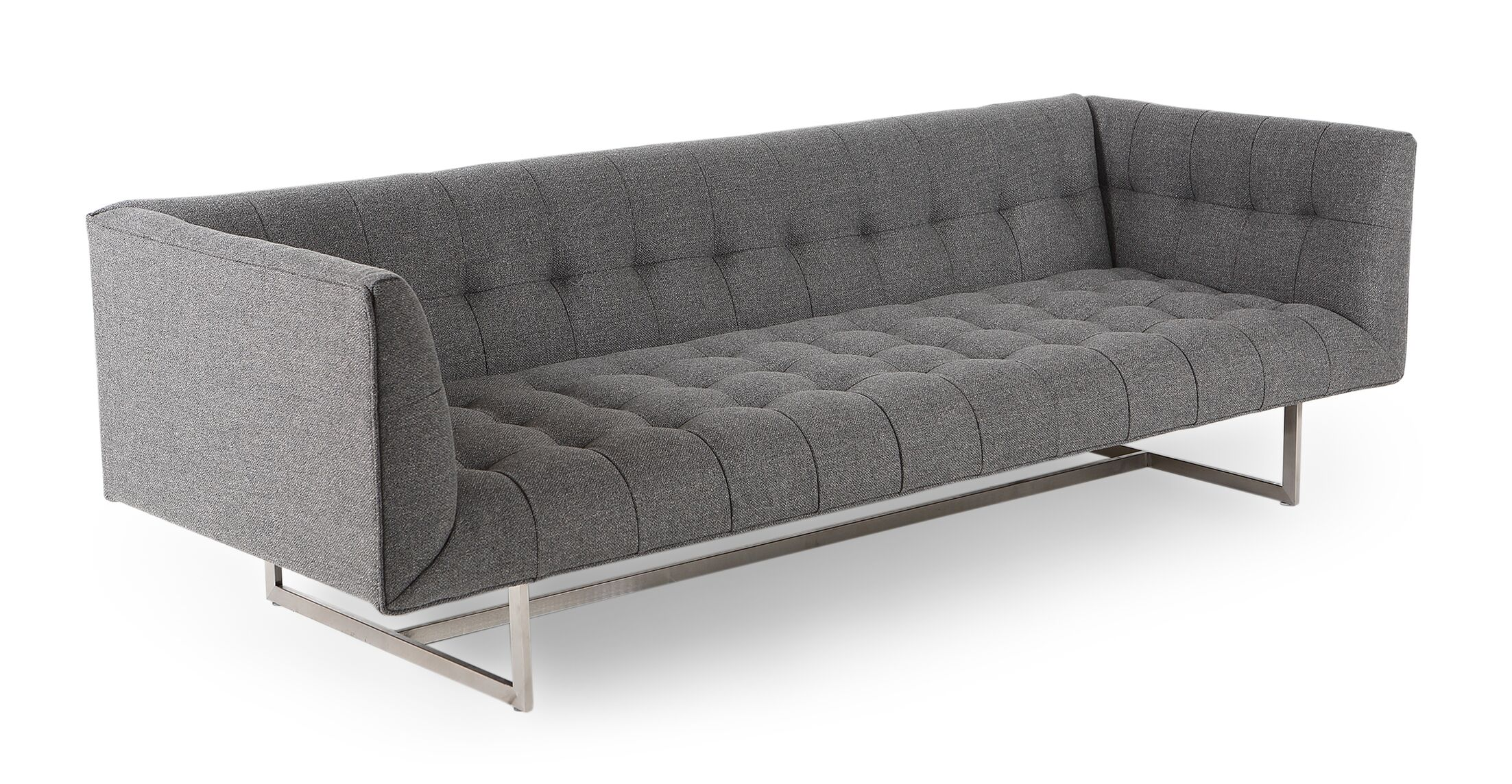 Shaner Sofa Body Fabric: Varsity Gray Twill