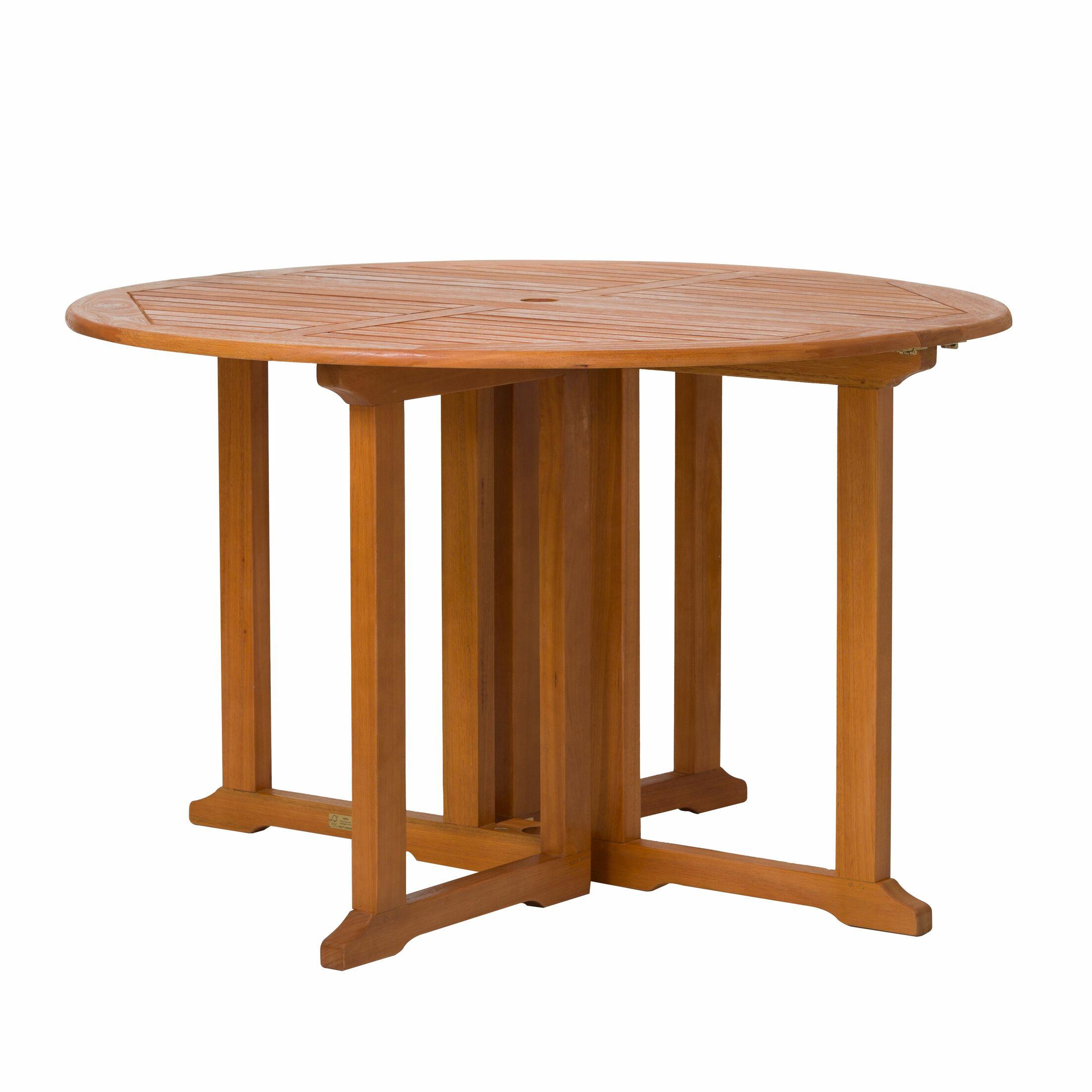 Kelbark Drop-Down Eucalyptus Folding Dining Table