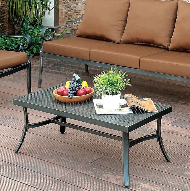 Clemence Patio Aluminum Coffee Table