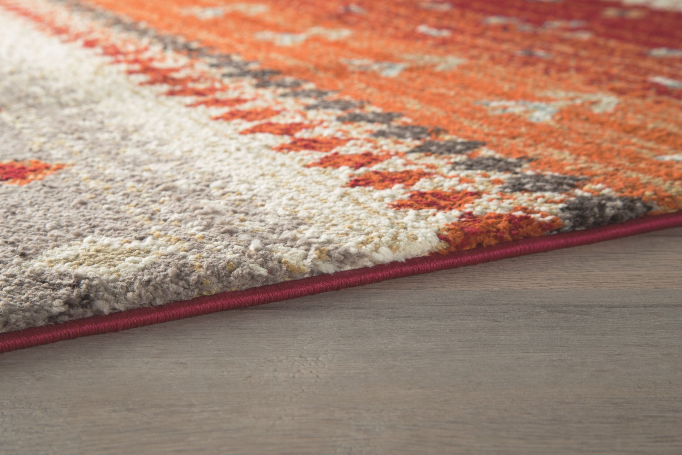 Reale Power Loom Orange Area Rug Rug Size: Rectangle 8' x 10'