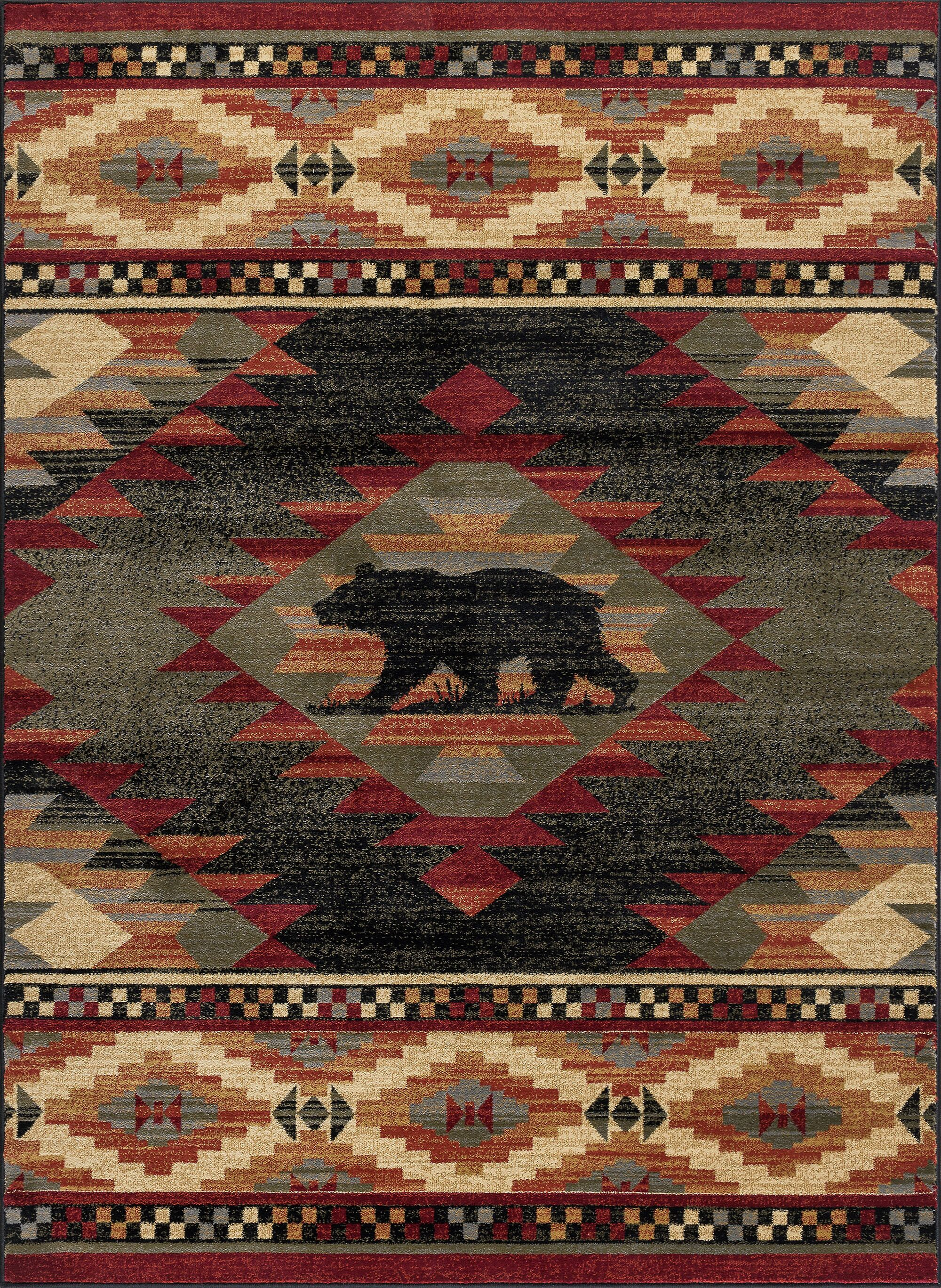 Villatoro Expedition Wildlife Novelty Lodge Beige Area Rug Rug Size: 3'11'' x 5'3''