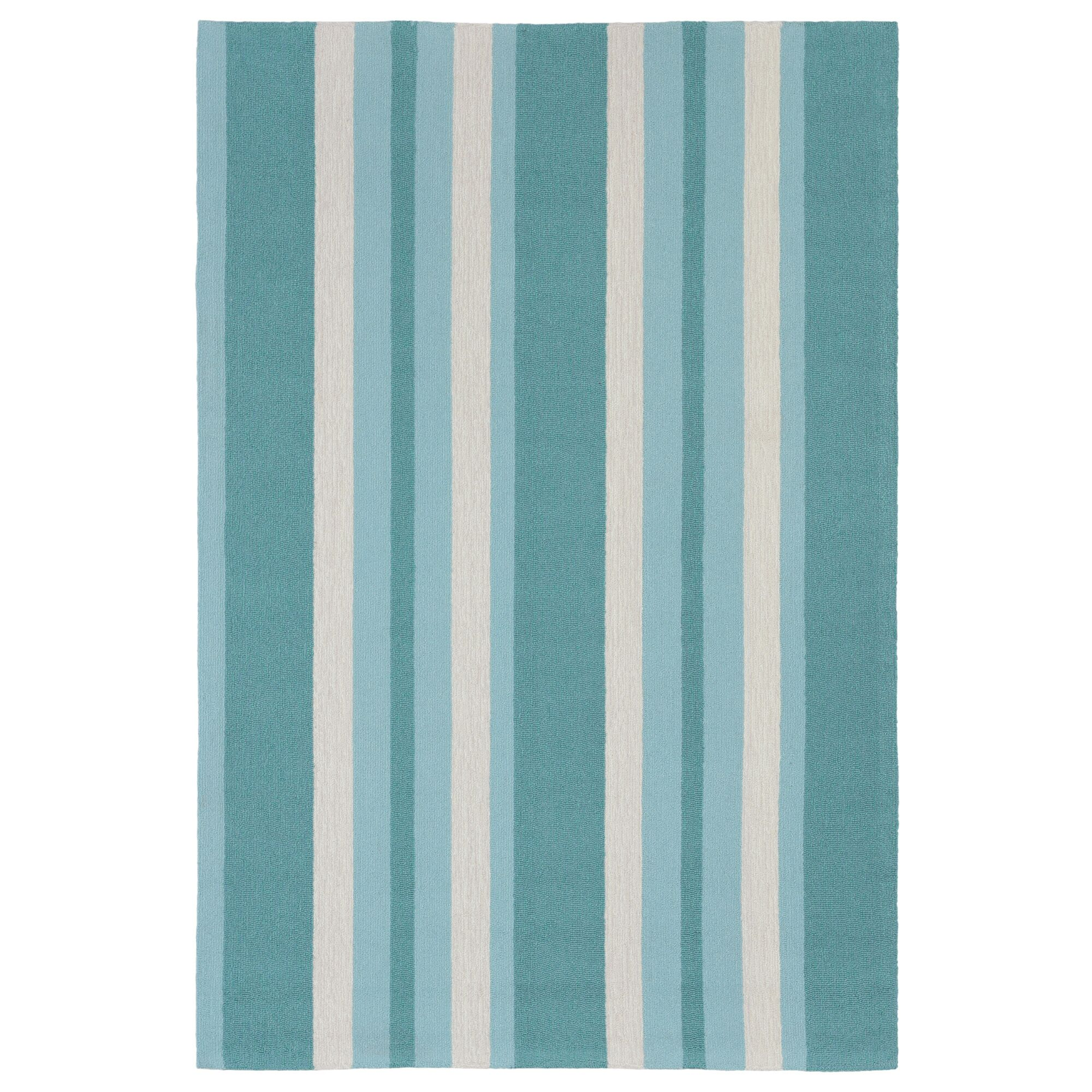 Cranford Stripe Hand-Tufted Blue/Beige Indoor/Outdoor Area Rug Rug Size: Rectangle 8'3