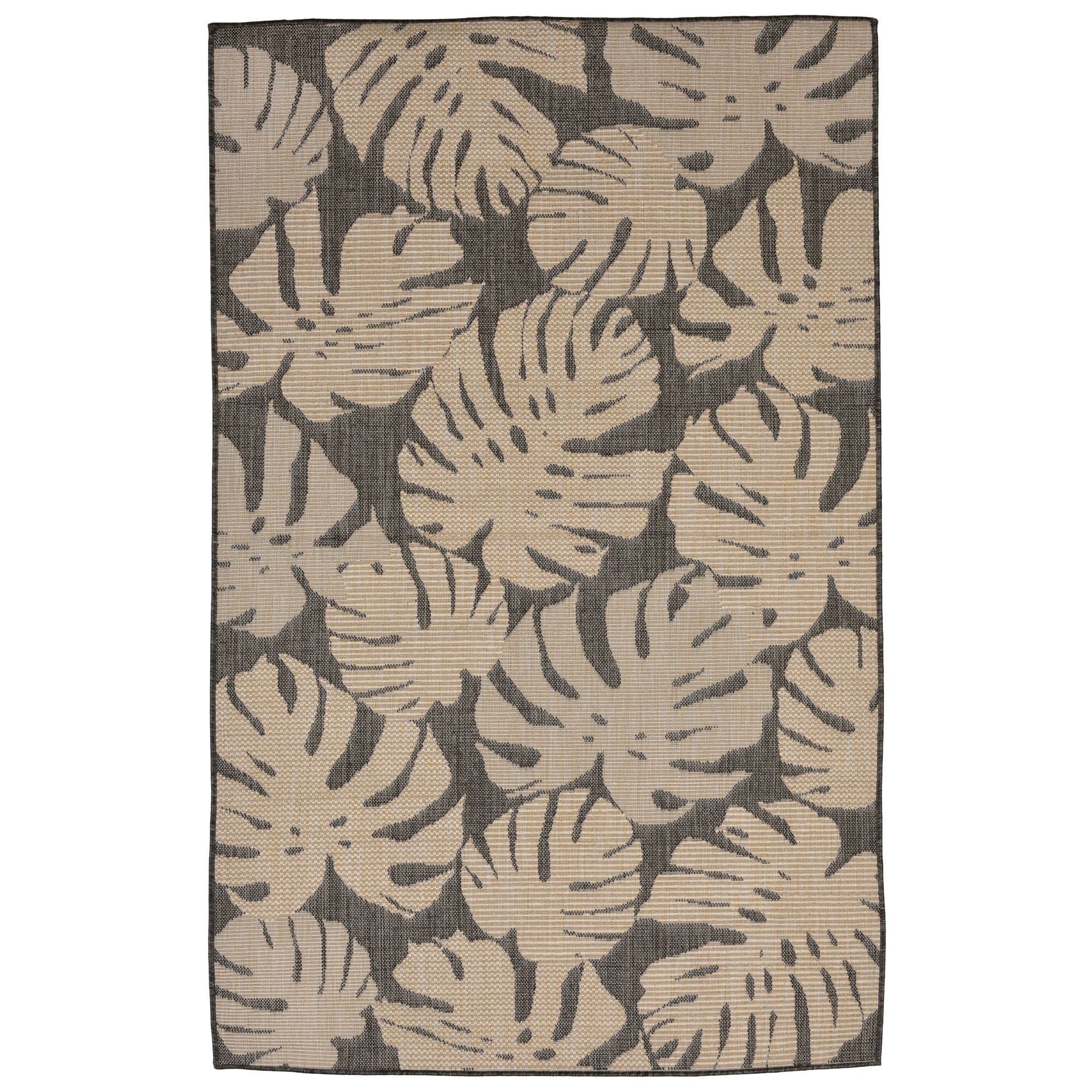 Stillwater Fronds Gray/Brown Indoor/Outdoor Area Rug