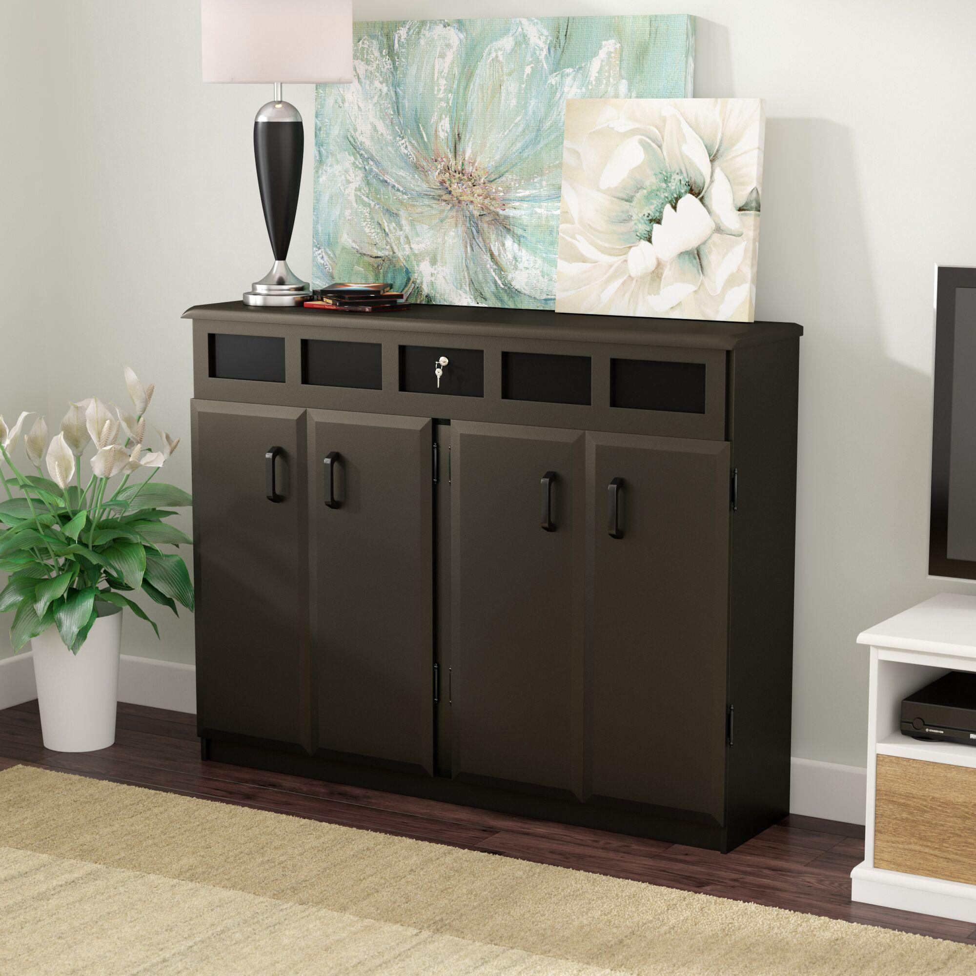 Top Load Multimedia Cabinet Color: Black