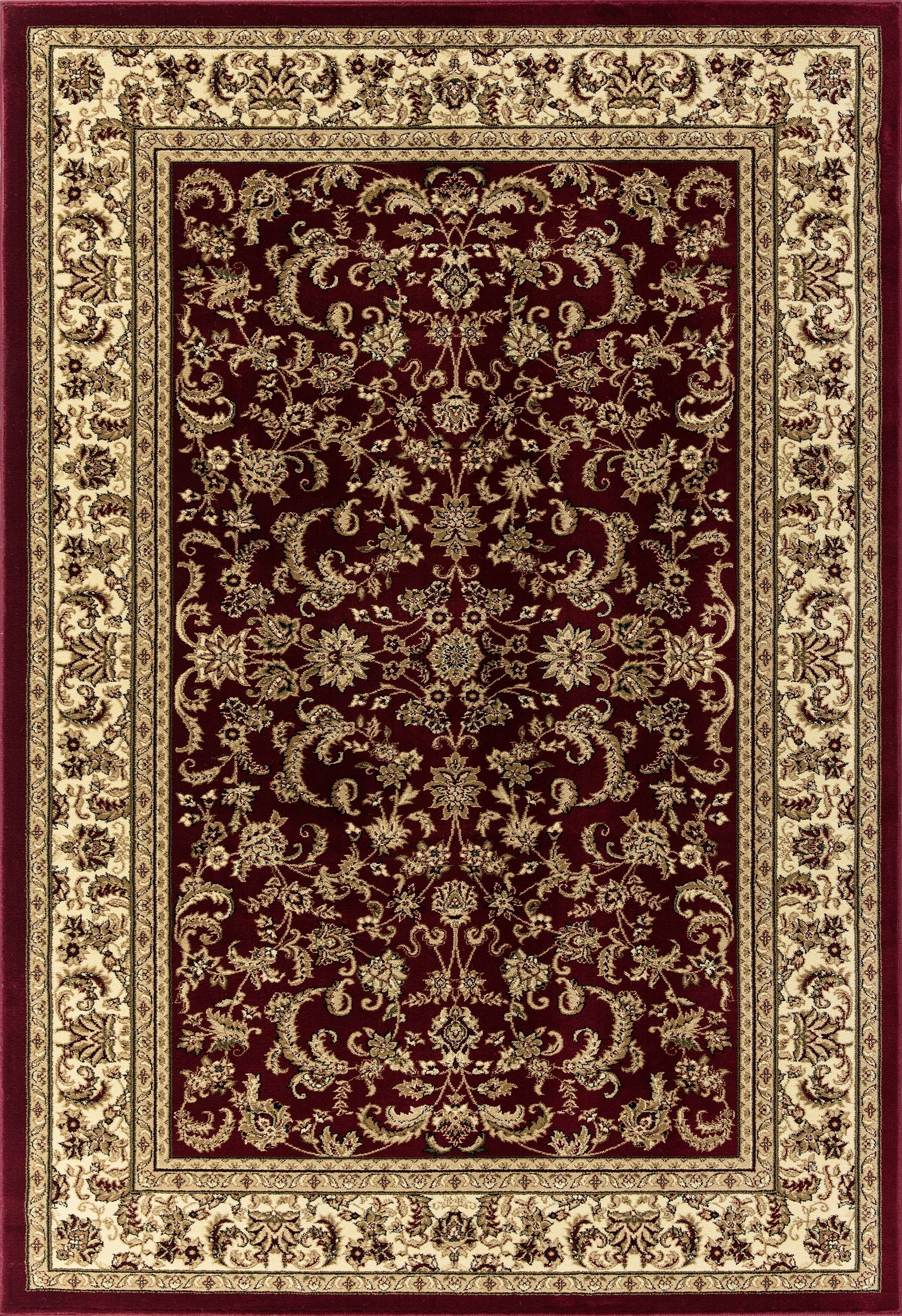 Elica Premium Quality Traditional Red Area Rug Rug Size: Rectangle 5'3