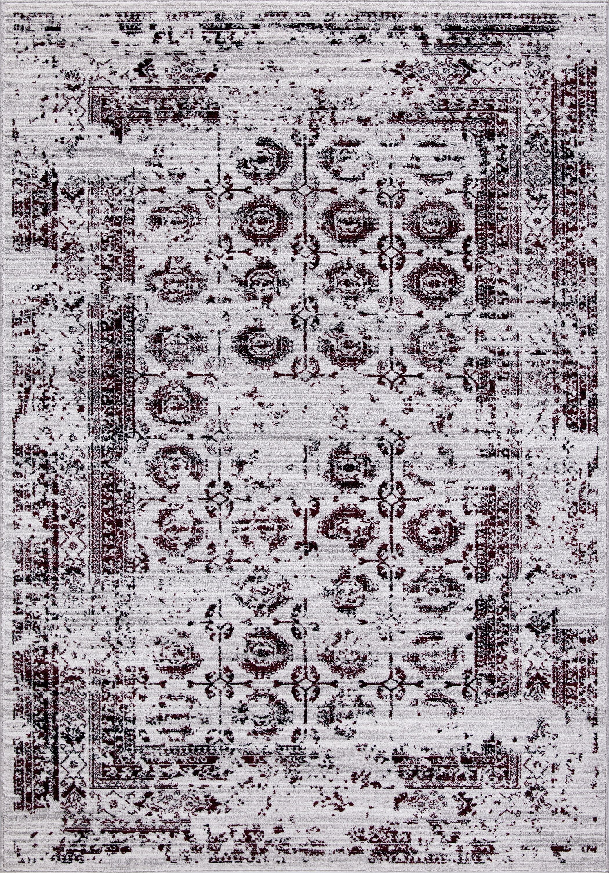 Queenan Beautifully Vintage Red/Gray Area Rug Rug Size: Rectangle 6'7