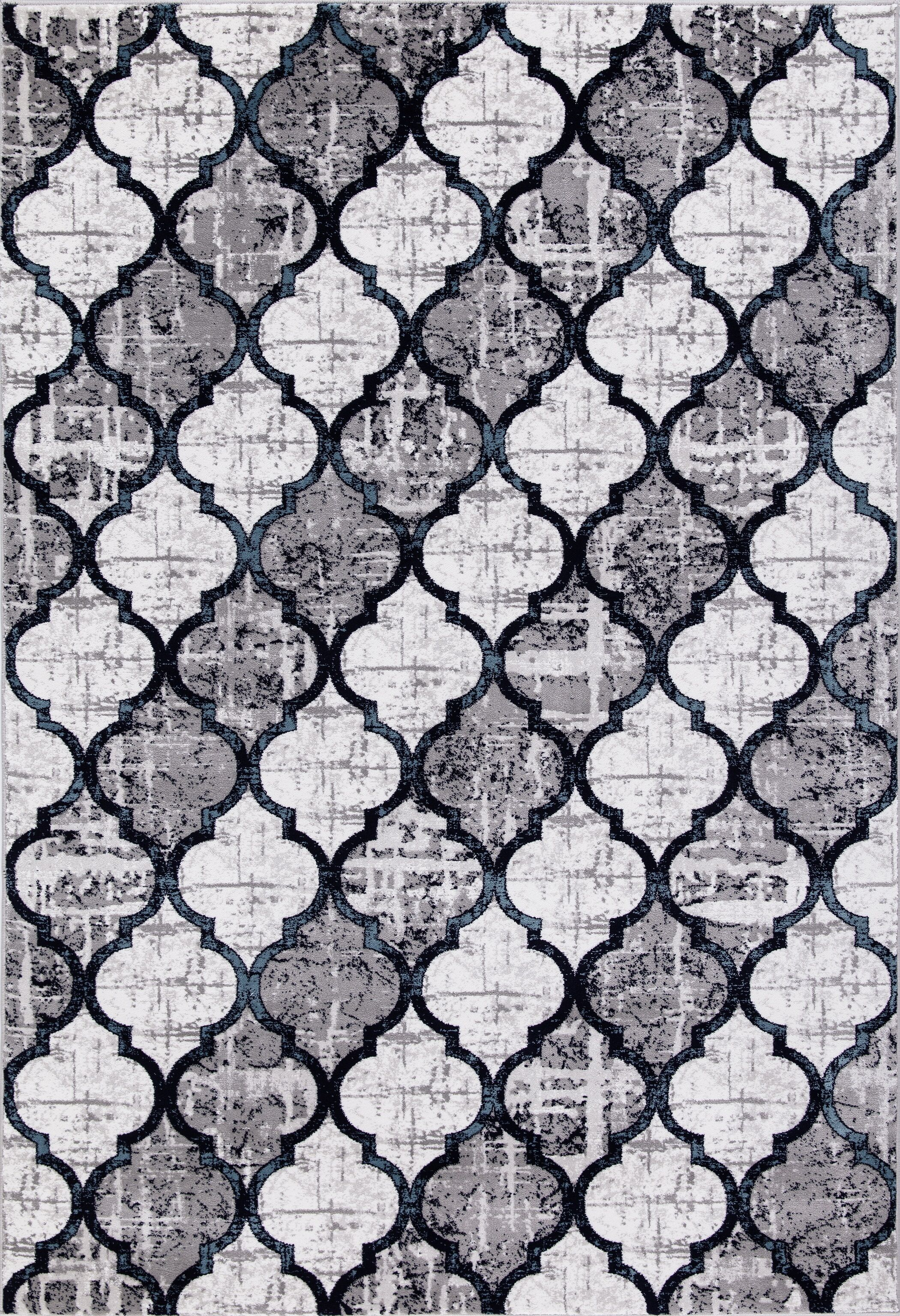 Javier Beautifully Contemporary Blue/Gray Area Rug Rug Size: Rectangle 3'11