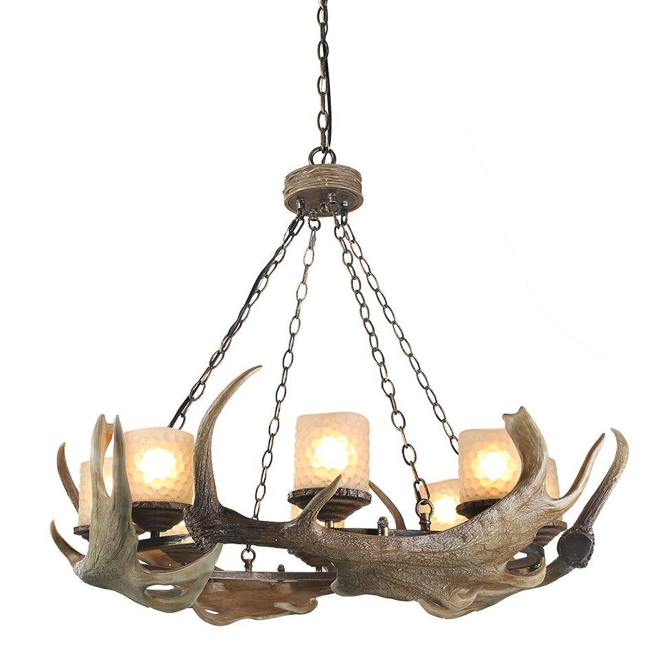 Vanwyk 8-Light Wagon Wheel chandelier
