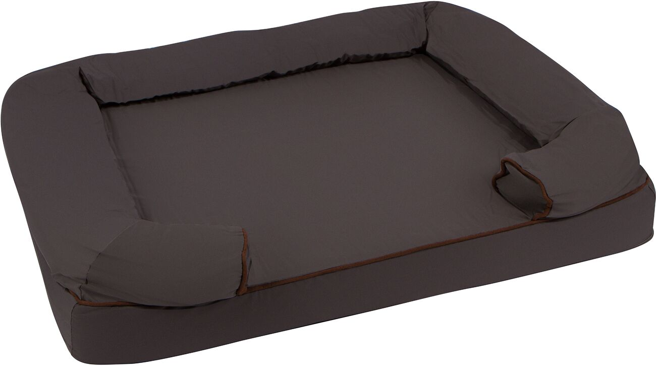 Large Pet Bed Orthopedic Lounger Bolster with Memory Foam and Zippered Cover