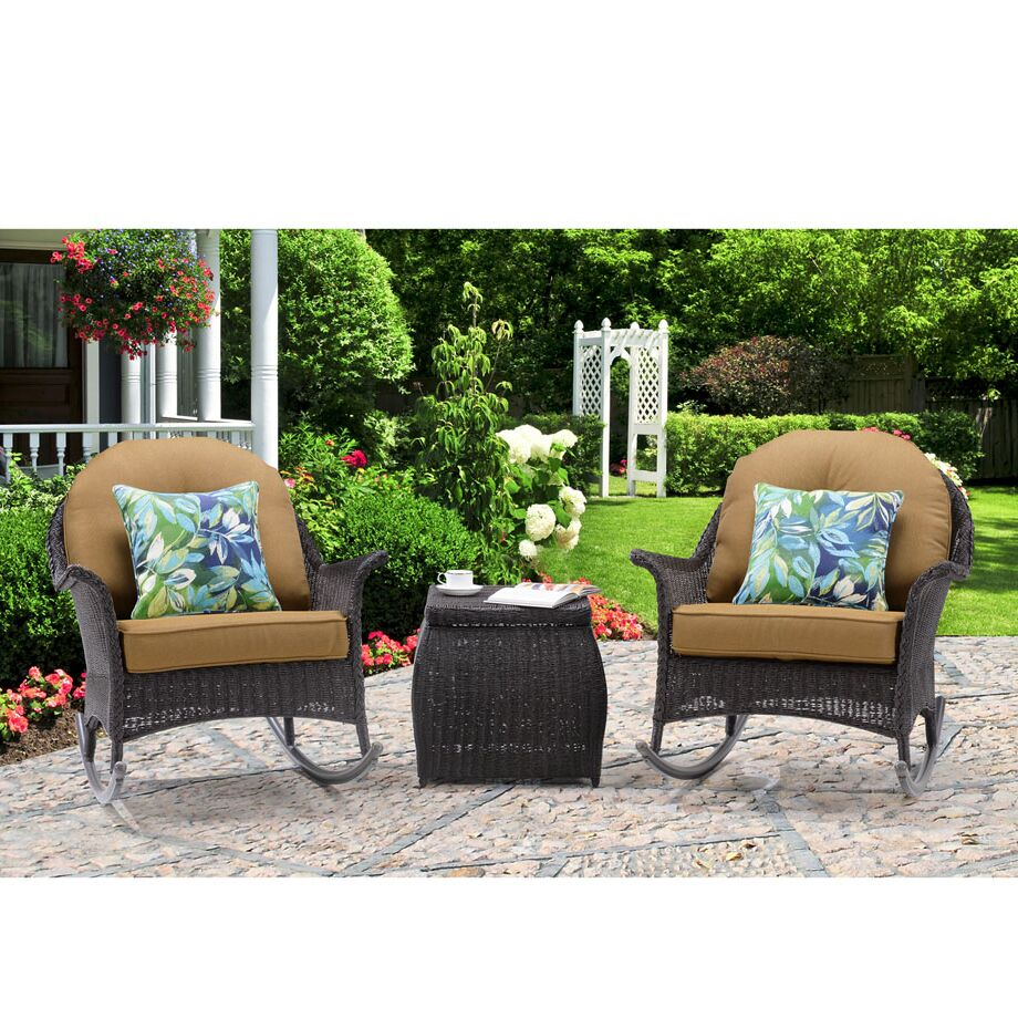 Krajewski 3 Piece Conversation Set with Cushions Cushion Color: Tan