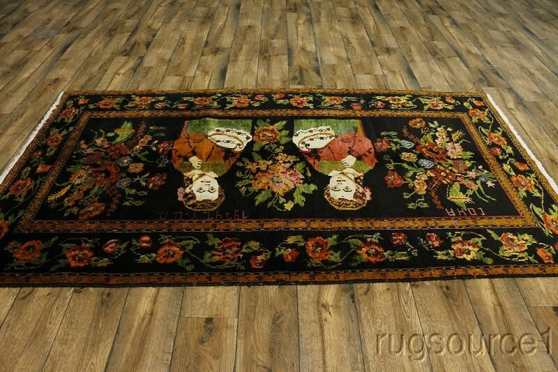 One-of-a-Kind Millerville Bakhtiari Classical Persian Hand-Knotted 4'11