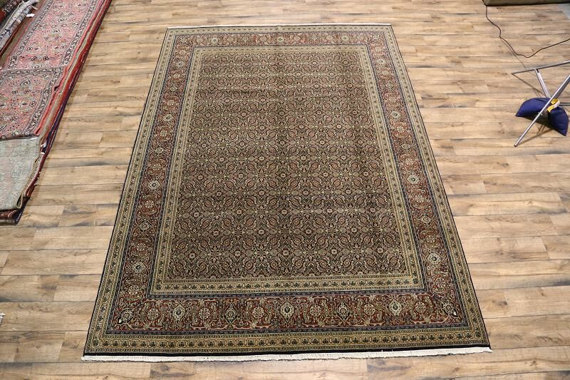 One-of-a-Kind Miranda Herati Hand-Knotted Wool Brown Area Rug
