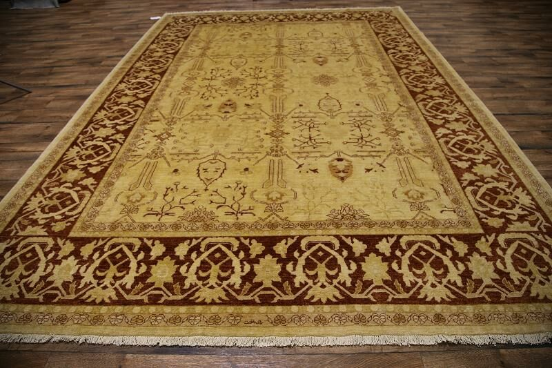 One-of-a-Kind Batley Oriental Hand-Knotted Wool Brown Area Rug