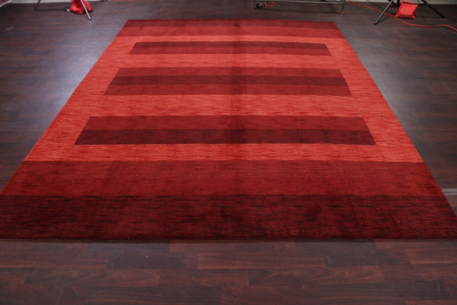 Seidman Oriental Hand-Knotted Wool Red Area Rug