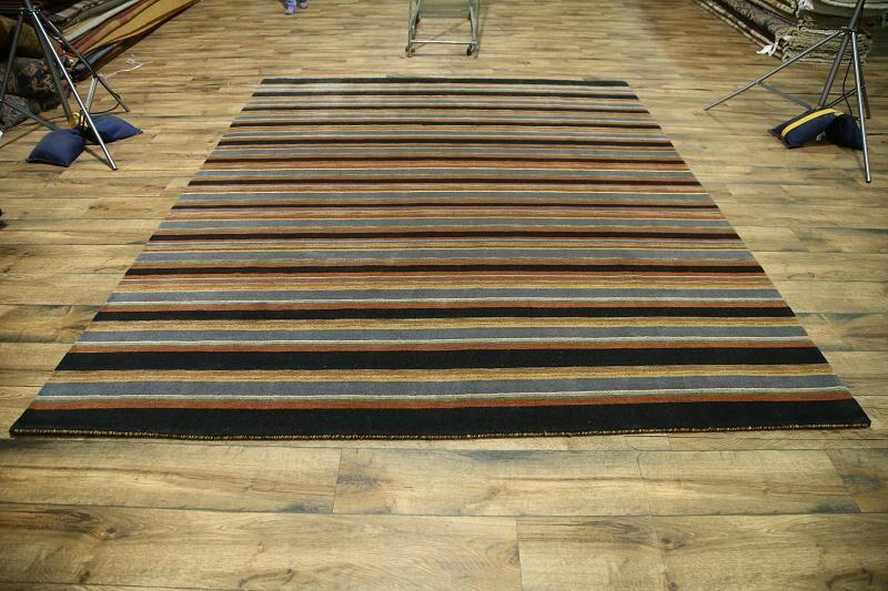 One-of-a-Kind Seidman Oriental Hand-Knotted Wool Orange/Blue Area Rug