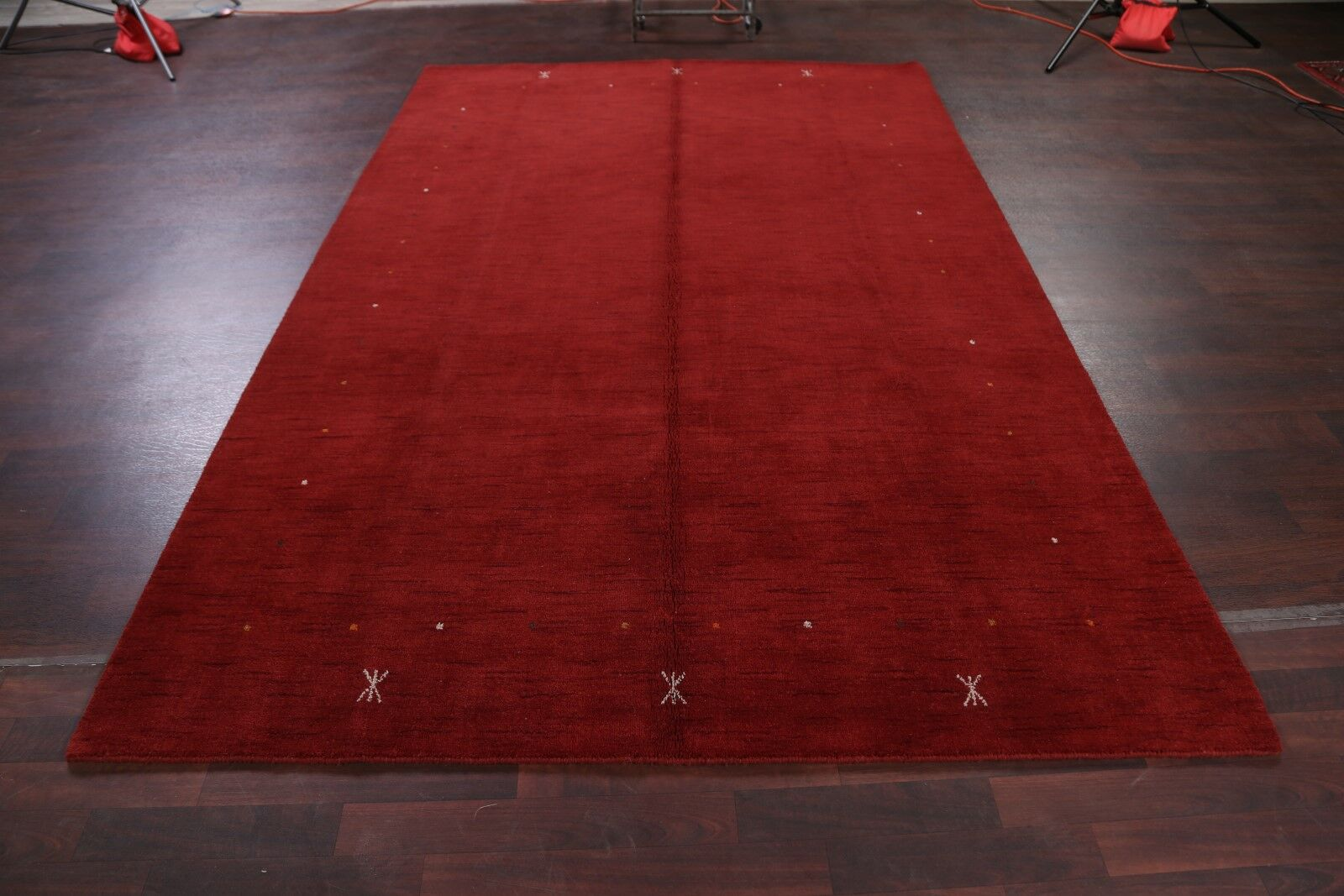 Seidman Indian Oriental Hand-Knotted Wool Red Area Rug