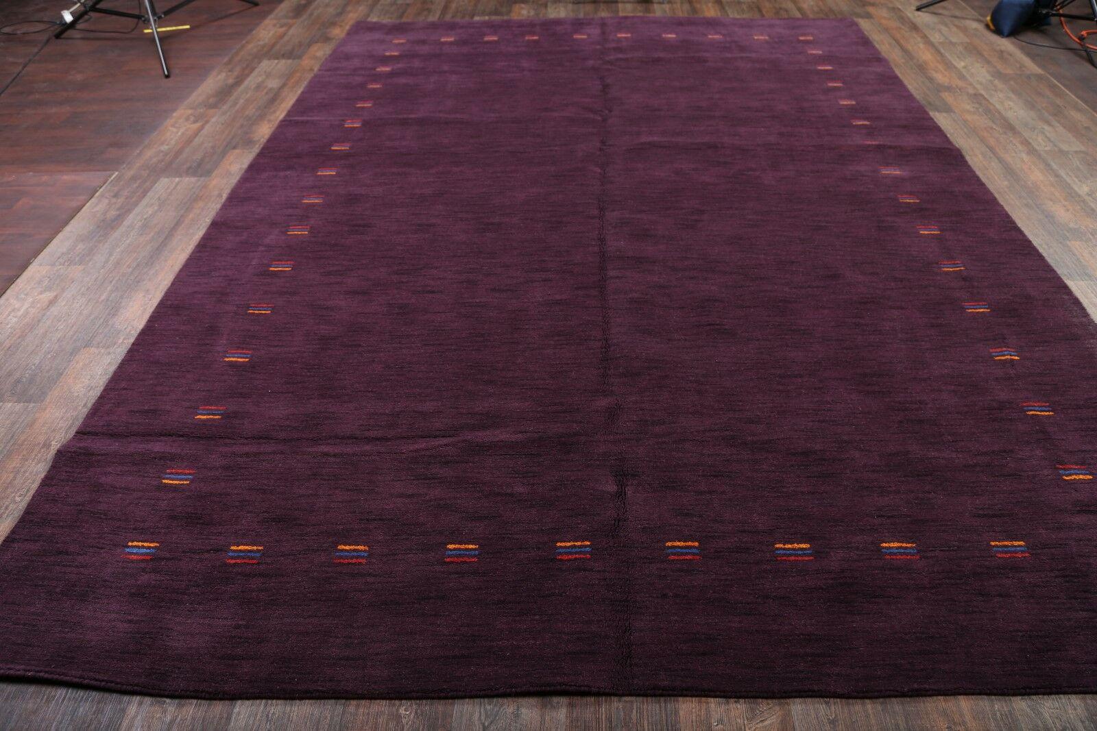 One-of-a-Kind Seidman Jaipur Oriental Hand-Knotted Wool Purple Area Rug