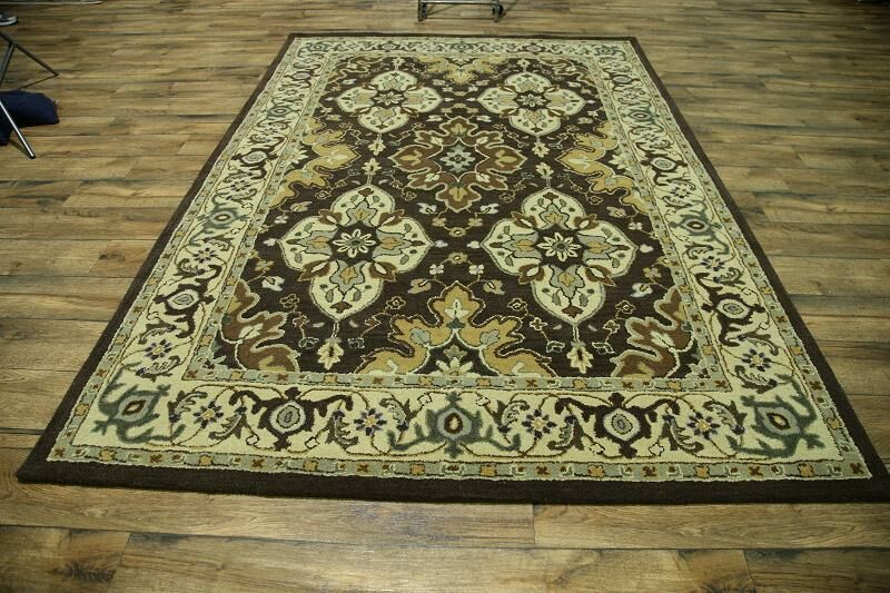 Miranda Oriental Hand-Tufted Wool Brown/Beige Area Rug