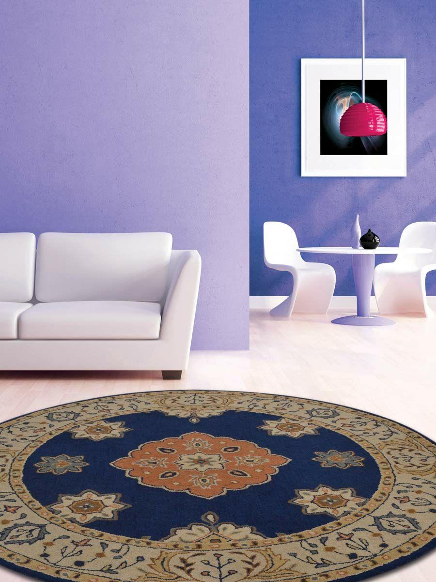 Miranda Agra Oriental Hand-Tufted Wool Beige Area Rug