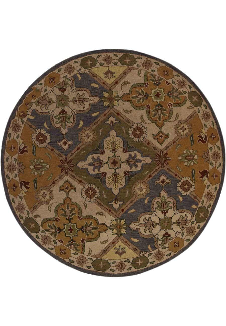 Miranda Oriental Carpet Hand-Tufted Wool Brown Area Rug
