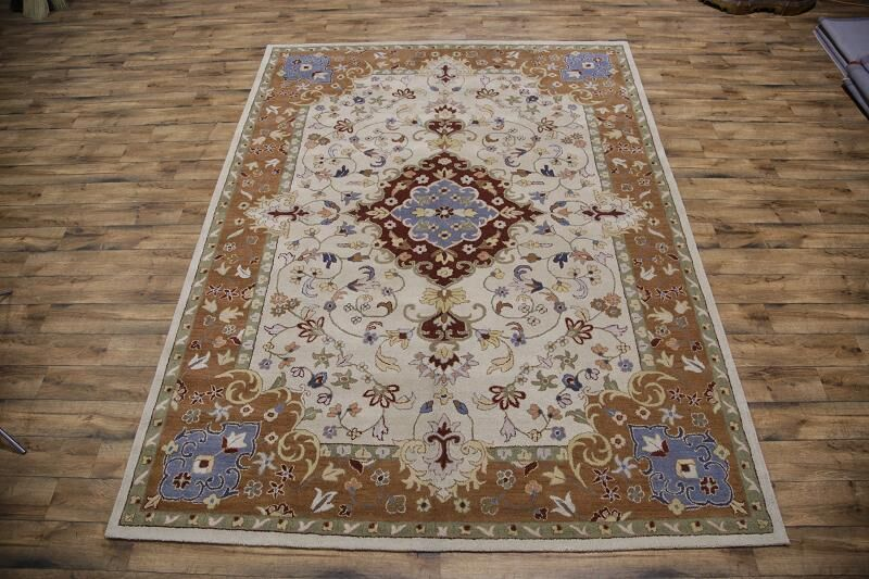 Pugh Agra Oushak Oriental Hand-Tufted Wool Brown/Beige Area Rug