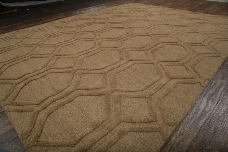 Bovill Oriental Hand-Tufted Wool Light Brown Area Rug