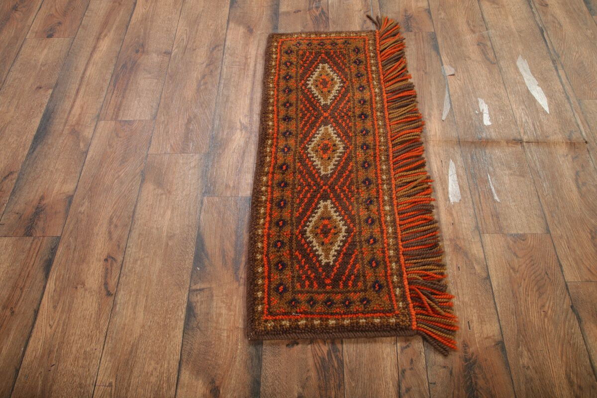 One-of-a-Kind Quintana Oriental Hand-Knotted Wool Brown Area Rug
