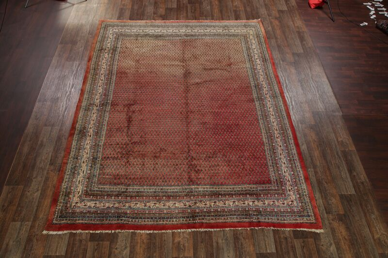 One-of-a-Kind Botemir Traditional Vintage Persian Hand-Knotted 9'1