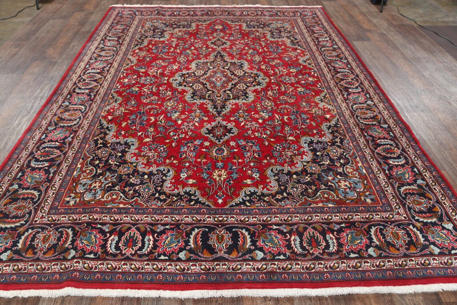 One-of-a-Kind Original Mashad Persian Hand-Knotted 7'11