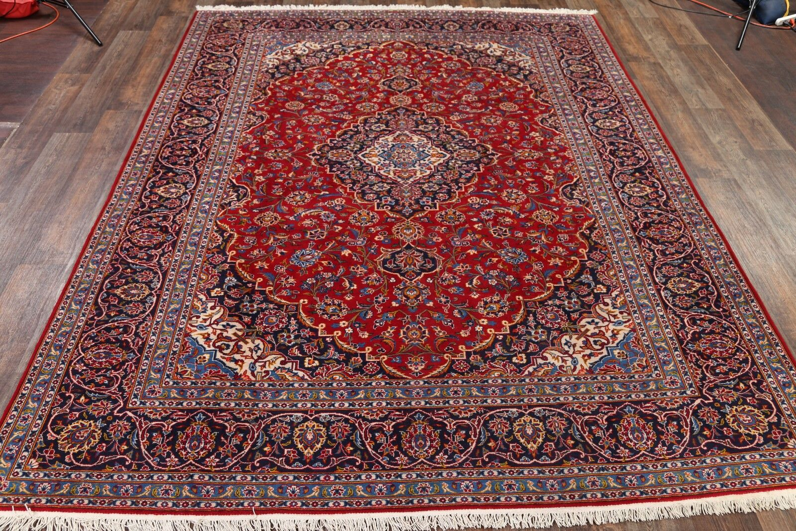 One-of-a-Kind Kashan Persian Hand-Knotted 9' x 11'9
